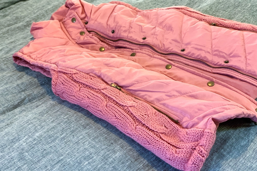 walmart wednesday — pink walmart vest with cable knit detailing