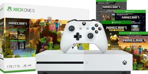 Xbox One S 1TB Minecraft Bundle Only $174.99 Shipped (Regularly $280)