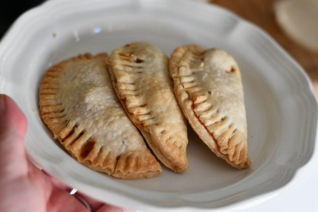 plate of homemade empanadas