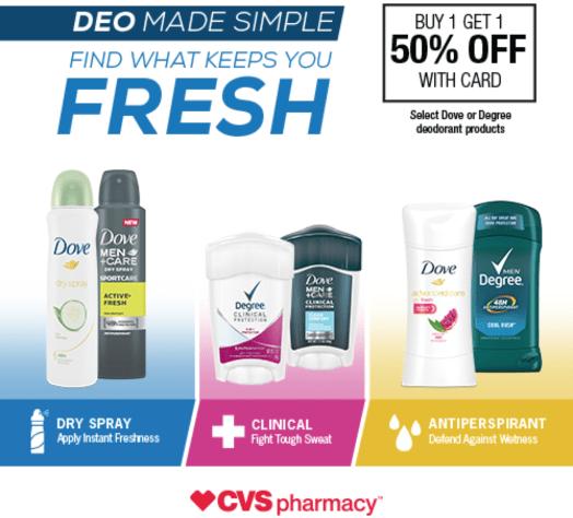 CVS Deodorant Made Simple March 2010 ad