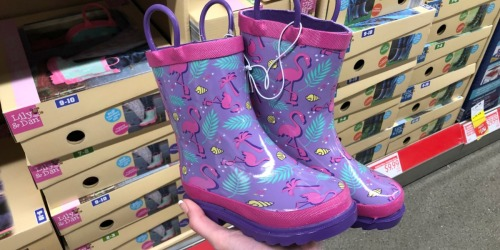 Matching Kids Rain Boots, Jackets & Umbrellas at ALDI (Perfect for Spring Weather)