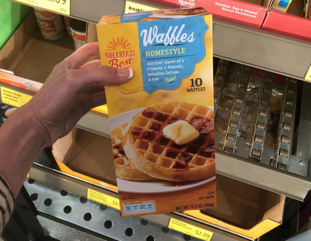 Homestyle waffles Aldi