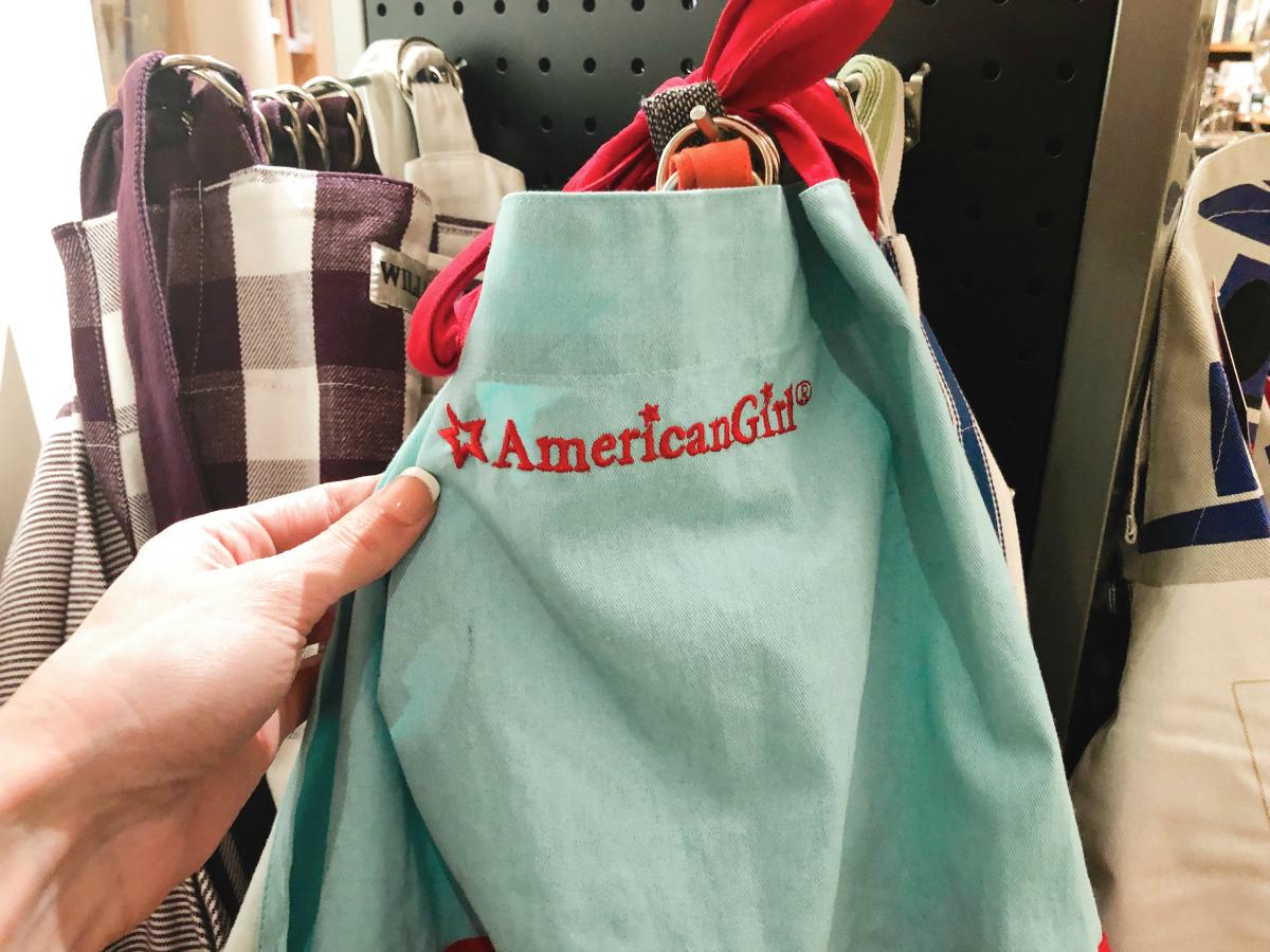American Girl apron at Williams-Sonoma