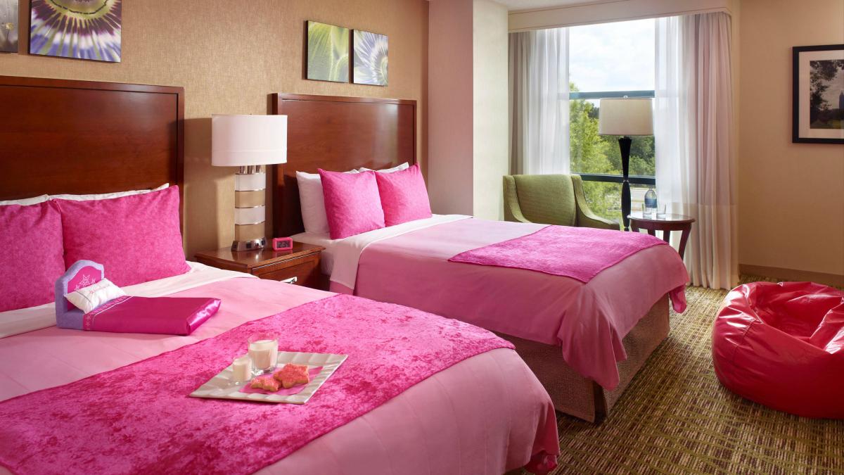 American Girl room at Marriott