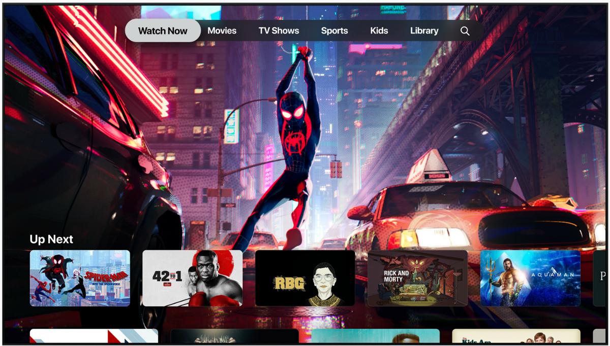 Apple tv app screen cap