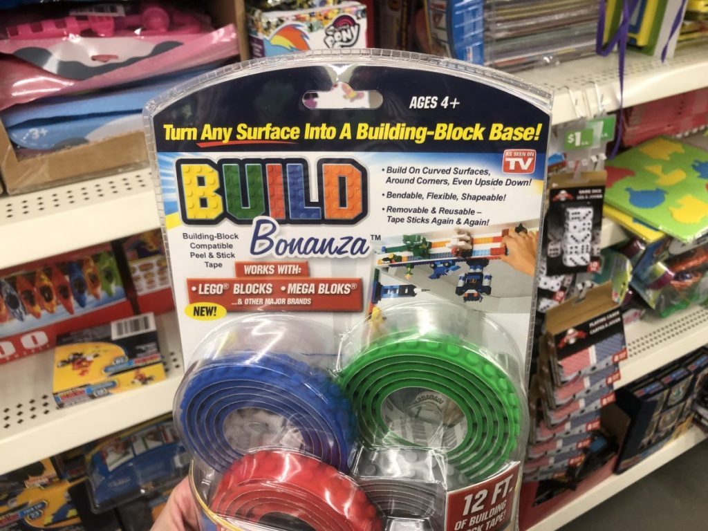 As Seen on TV Building-Block Tape Only $1 at Dollar Tree