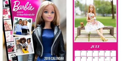 Amazon: Barbie 2019 Wall CalendarJust $2.55 (Regularly $15) + More