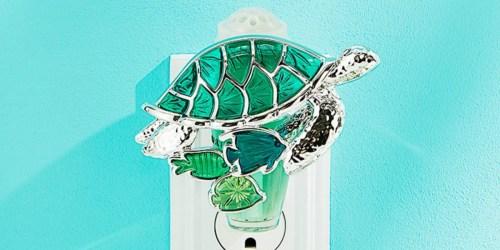 Free Bath & Body Works Wallflower Plug-In Refill w/ Turtle Wallflower Nightlight Purchase