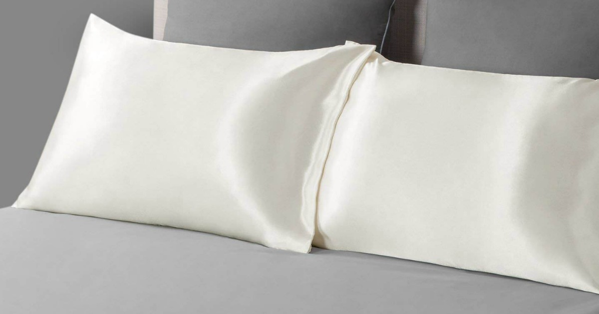Amazon Bedsure Satin Pillowcase 2 Pack Only 7 99 Hip2save