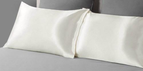 Amazon: Bedsure Satin Pillowcase 2-Pack Only $7.99