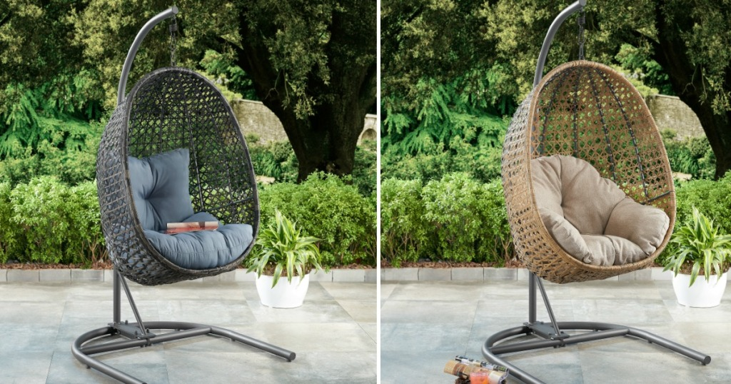 Incredible Better Homes Gardens Wicker Hanging Chair W Stand Just Beatyapartments Chair Design Images Beatyapartmentscom