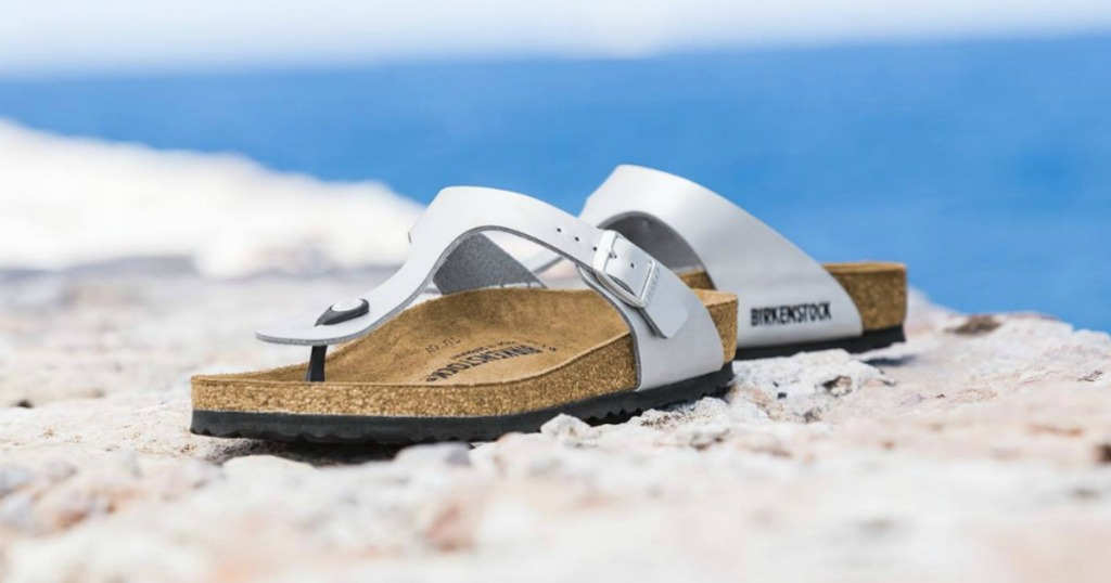 3de0ba008fd2 These Birkenstock sandals contains shock absorbing soles and a footbed that  contours to the shape of your foot for maximum support.