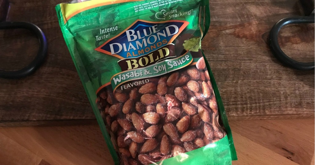 blue dimaond wasabi almonds