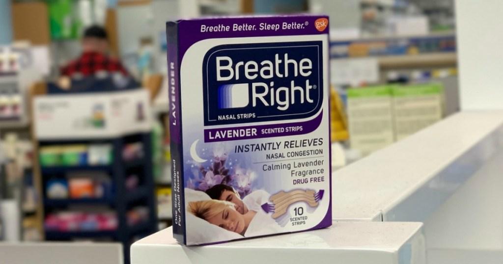 breathing strips on shelf