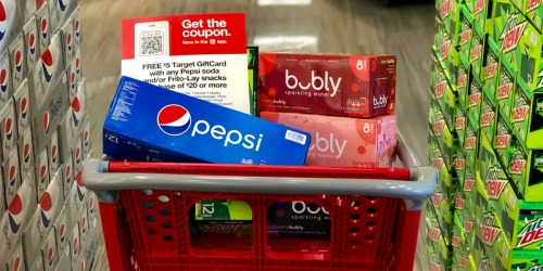 Pepsi Cans 12-Pack or bubly Cans 8-Pack Only $2.50 Each After Target Gift Card