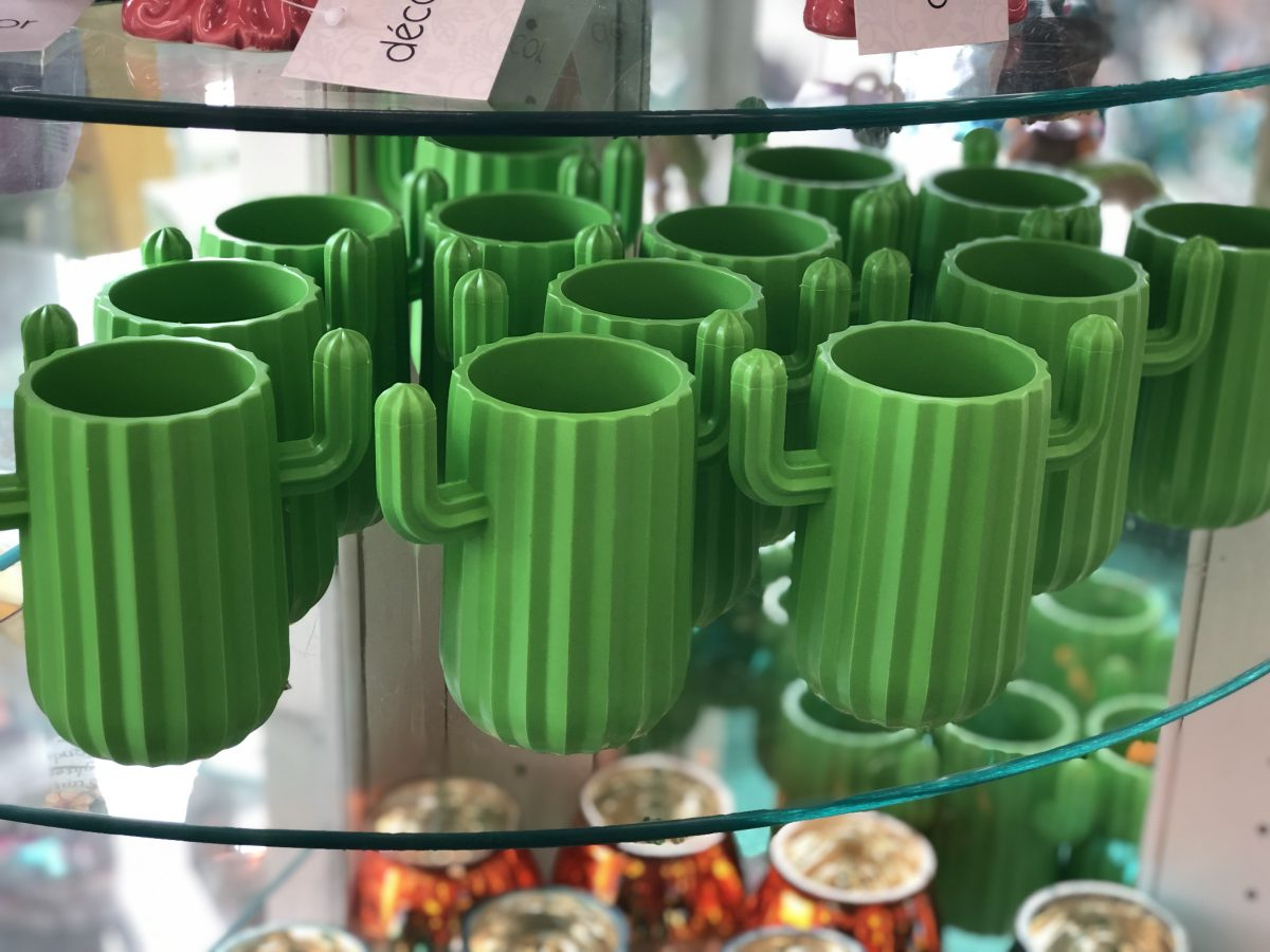 cactus plastic mugs at Dollar Tree