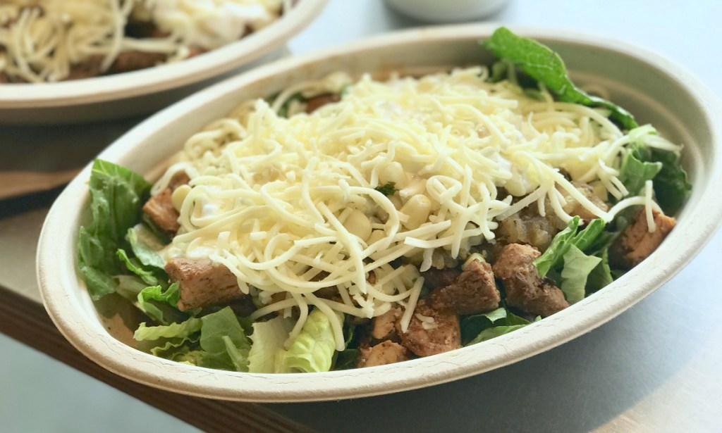 Chipotle salad bowls