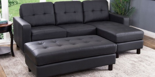Reversible Sectional & Ottoman Only $399 Shipped at Sam's Club (Luxury Look for Less)