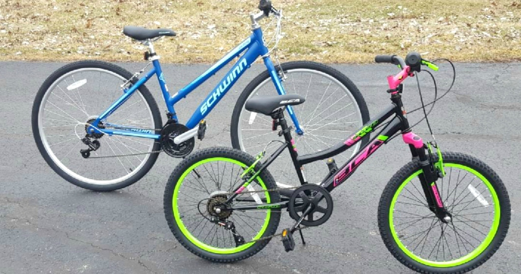 Clearance woman's and kids bikes at Walmart