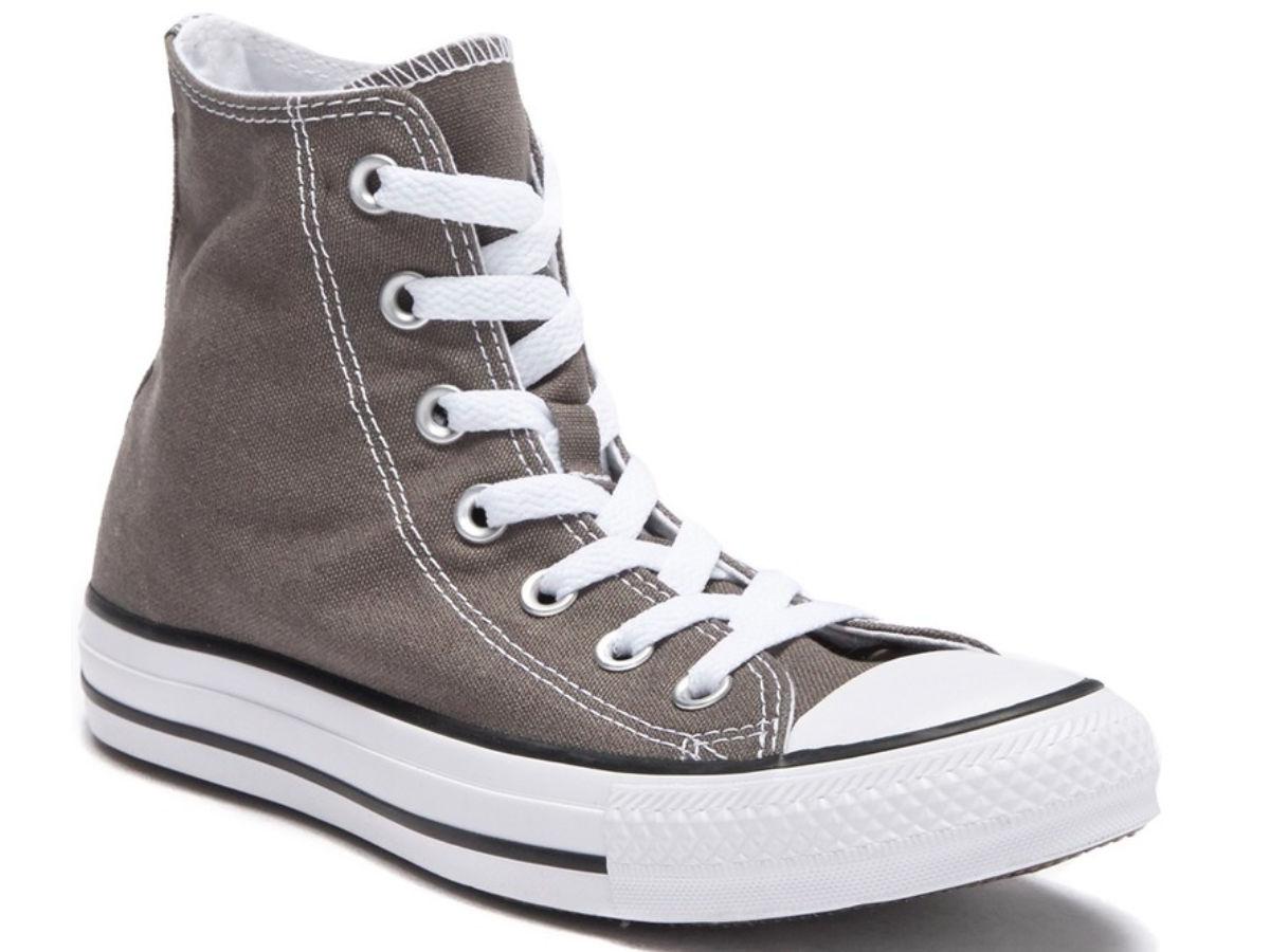 Brown Converse high-tops