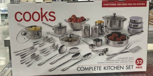 Cooks 52-Piece Stainless Steel Cookware Set Only $59.99 on JCPenney (Regularly $160)