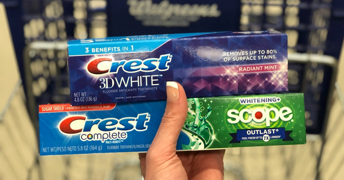 Crest toothpaste at Walgreens