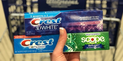Crest Toothpaste Only 99¢ Shipped on Walgreens.com