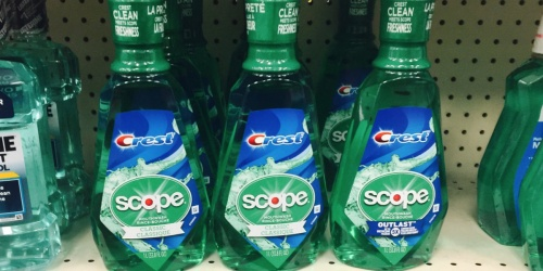 Crest Scope Mouthwash Only 79¢ After Rewards at CVS (Just Use Your Phone)