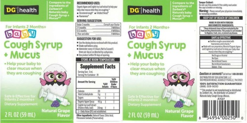 Dollar General Naturals Baby Cough Syrup Has Been Recalled