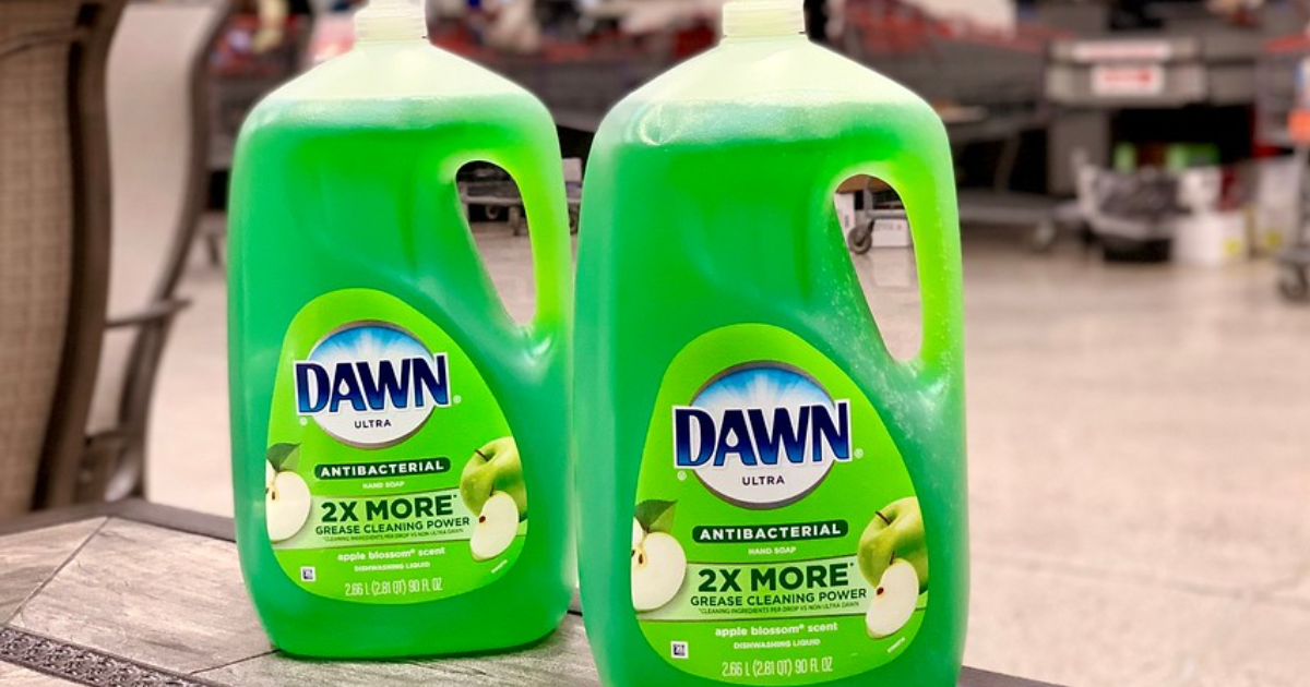 Dawn Antibacterial dish soap 90 oz bottles at Costco