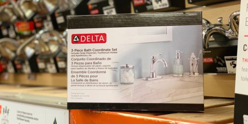 Home Depot: Delta Bathroom Countertop Accessory Kit Possibly Only $9 (Regularly $36)