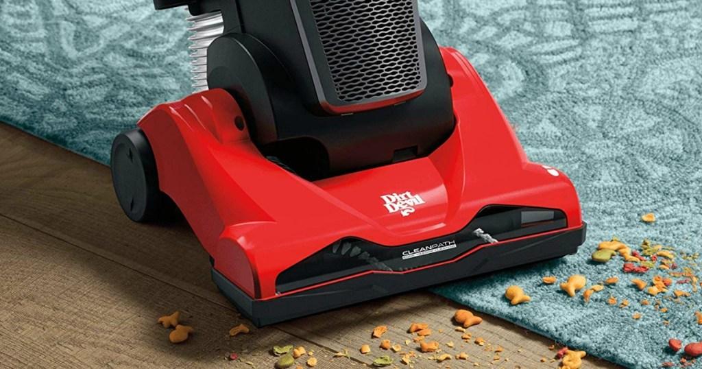 red and black vacuum