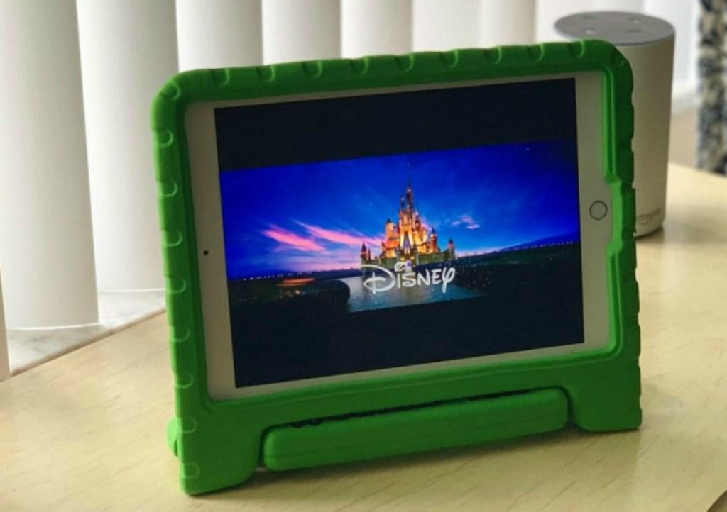 Disney logo on tablet
