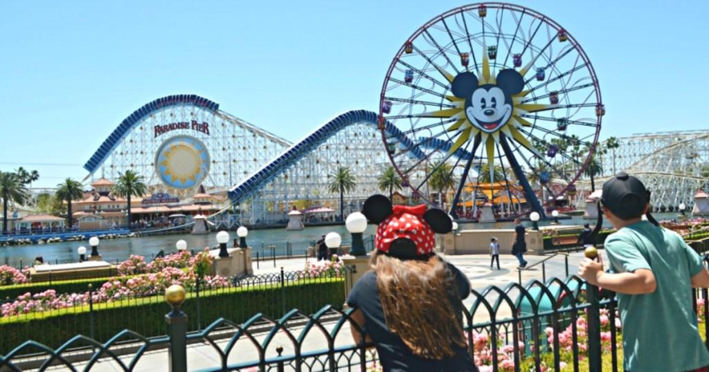 kids looking at pier at Disneyland