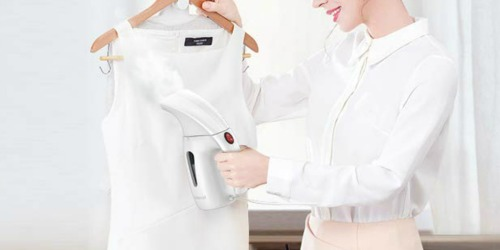 Amazon: Dodocool Handheld Garment Steamer Only $22.99 Shipped (Great for Travel)