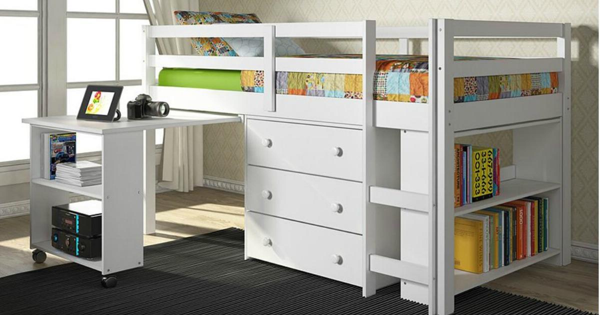 Donco Kids Loft Bed Amp Desk Set Only 414 94 Shipped