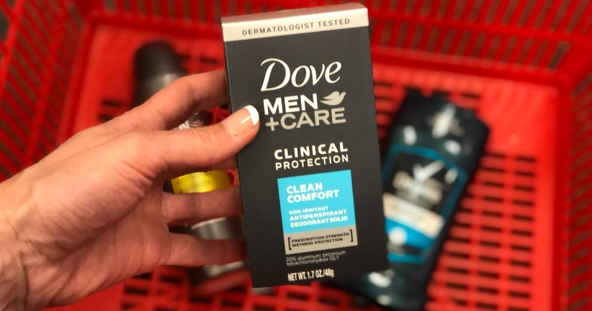 Dove and Degree products in a CVS basket