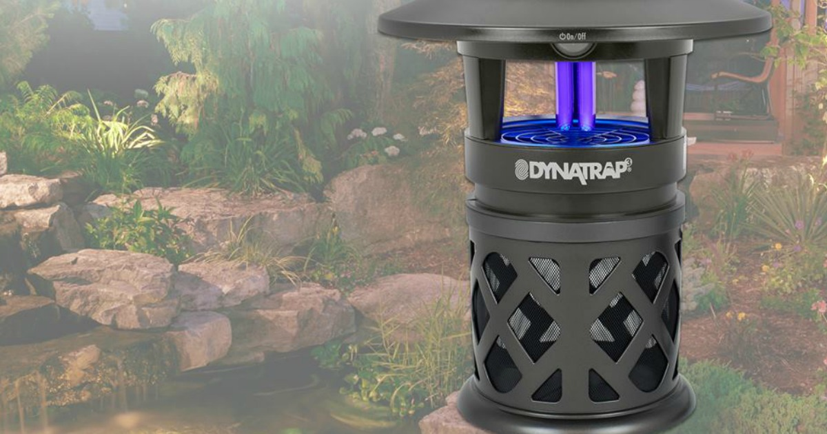 Dynatrap in a simulated backyard setting available with this qvc mosquito & insect trap deal