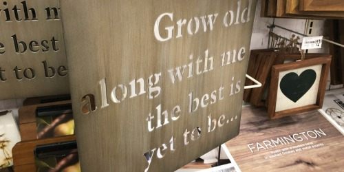 Grow Old Wall Art Only $8.50 at Michaels.com (Regularly $21)