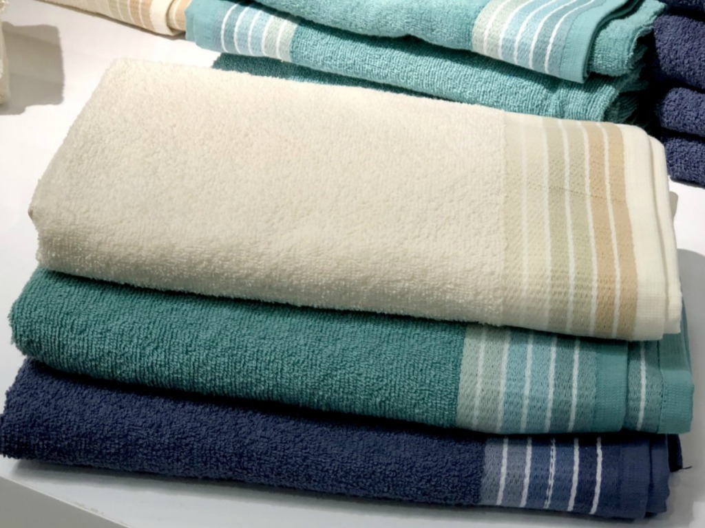 jcpenney home expression striped bath towels in store