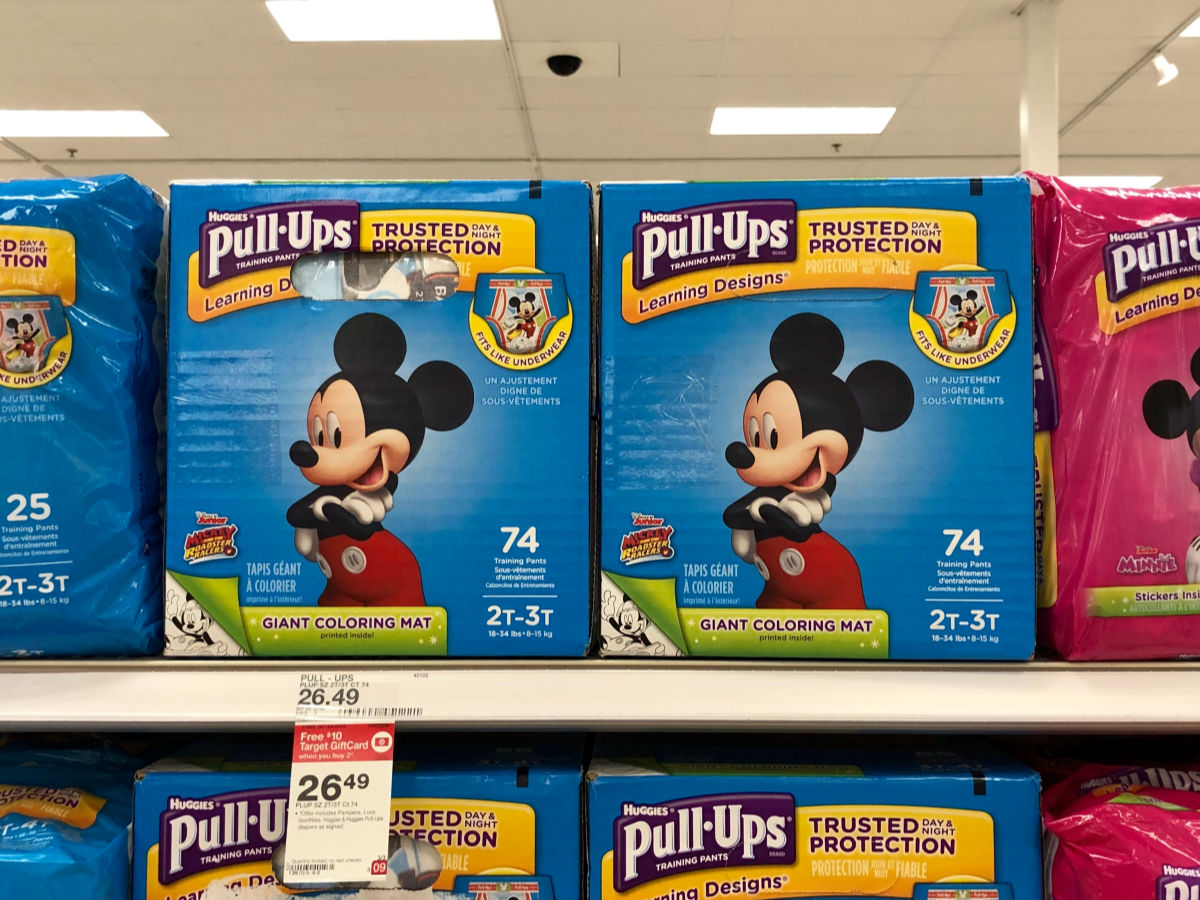 image relating to Pull Ups Printable Coupons referred to as $4.50 inside of Fresh new Huggies Pull Ups Discount coupons \u003d as Very low as $17.49