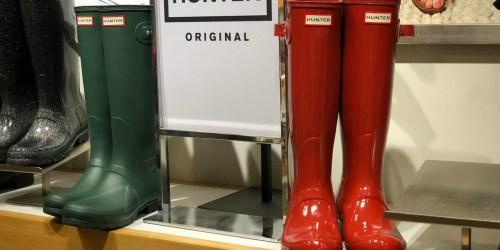 Hunter Women's Rain Boots Only $53.99 (Regularly $100)