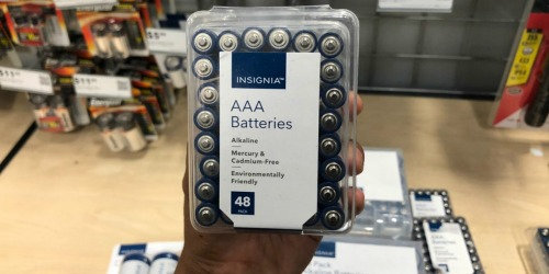 Insignia AA or AAA 48-Count Batteries Only $7 Shipped at Best Buy (Regularly $16)