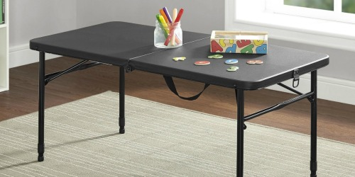 Mainstays Fold-in-Half Plastic Folding Table Only $29 (Regularly $90)