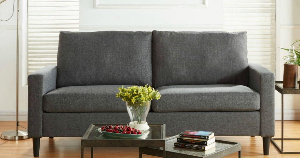 Mainstays Apartment Sofa Only 169 Shipped At Walmart Com More