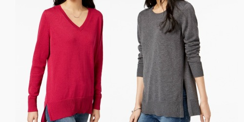 TWO Women's Maison Jules Sweaters Only $10.39 at Macy's (Just $5.20 Each)