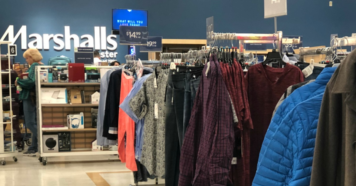 Marshall's clothing department