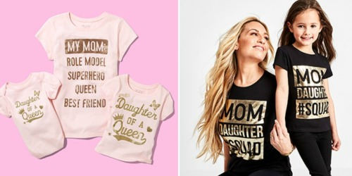 Matching Mom & Kids Tees Under $12 Shipped for BOTH at The Children's Place & More