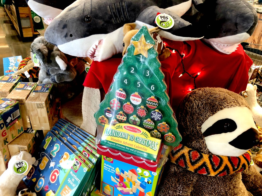 Melissa & Doug Advent Calendar with a bunch of stuffed animals
