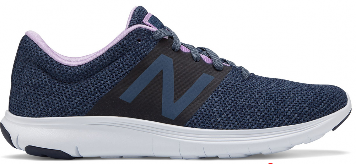 New balance shoe in lavender and blue